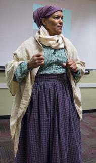 Mary Kelly portrays Harriet Tubman