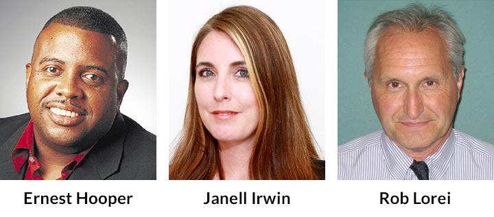 Ernest Hooper, Janell Irwin, Rob Lorei