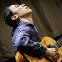 Portrait of Japanese Guitarist Hiroya
