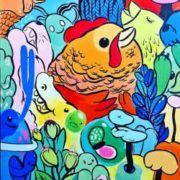 Year of Rooster Painting by Jujmo